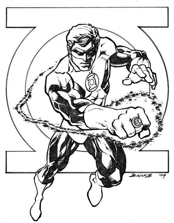 Green Lantern Drawing Super Hero Coloring Sheets Lantern Drawing Coloring Pages