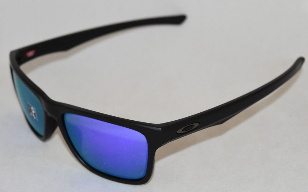 3a638e2d051e2 eBay  Sponsored NEW OAKLEY HOLSTON OO9334-0958 MATTE BLACK W  VIOLET  IRIDIUM LENS