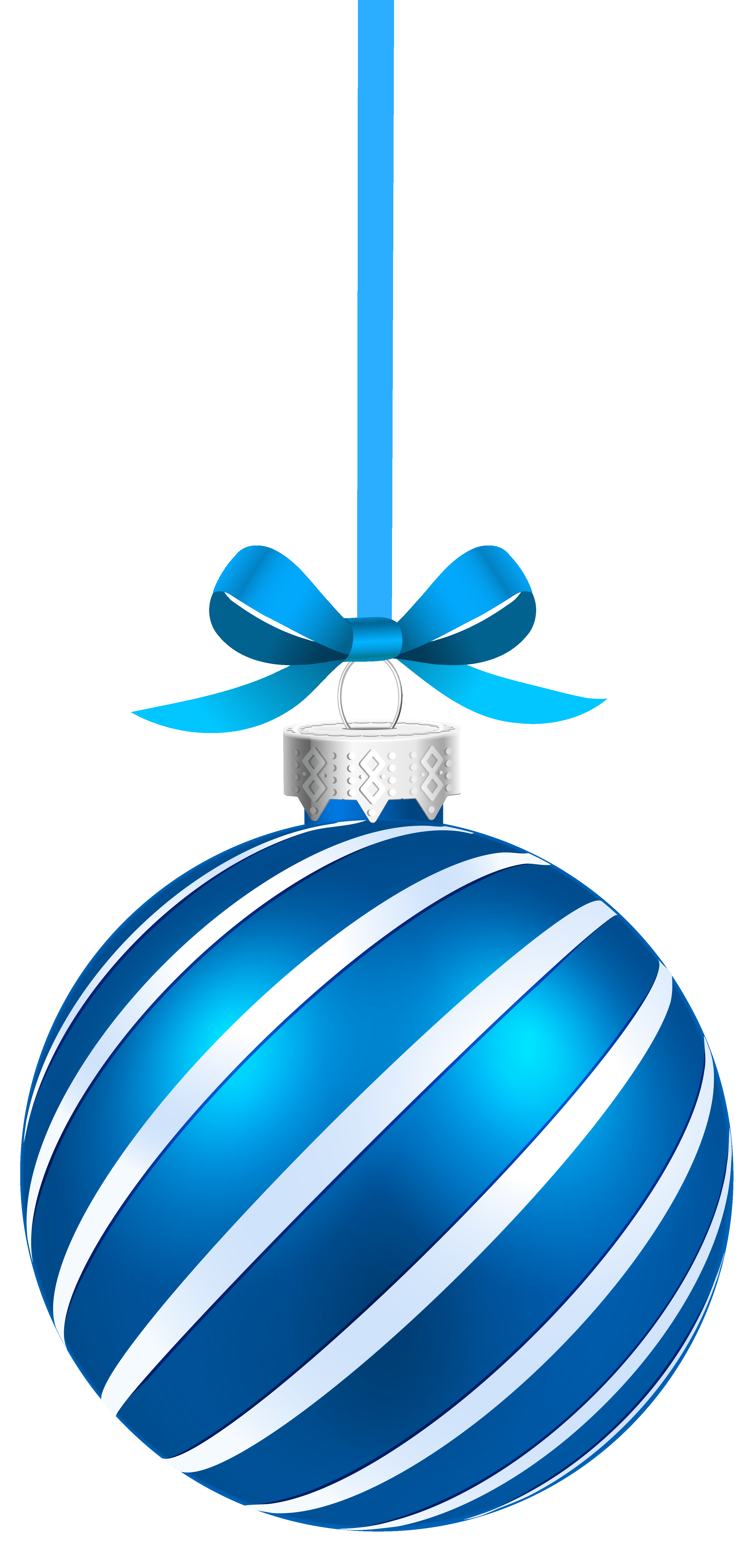 Blue Sriped Christmas Hanging Ball Png Clipart Image Gallery Yopriceville High Free Christmas Backgrounds Christmas Applique Designs Christmas Card Crafts