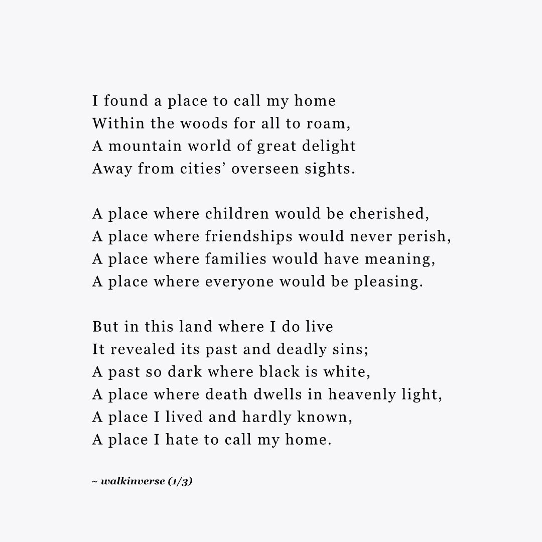 My Home, a free verse poem and riddle by Walk In Verse