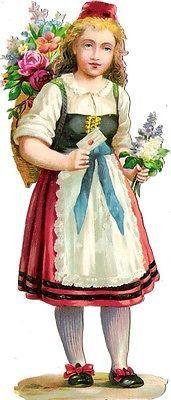 Glanzbilder - Victorian Die Cut - Victorian Scrap - Tube Victorienne - Glansbilleder - Plaatjes : Jan. 2015 - Menschen mit Blumen