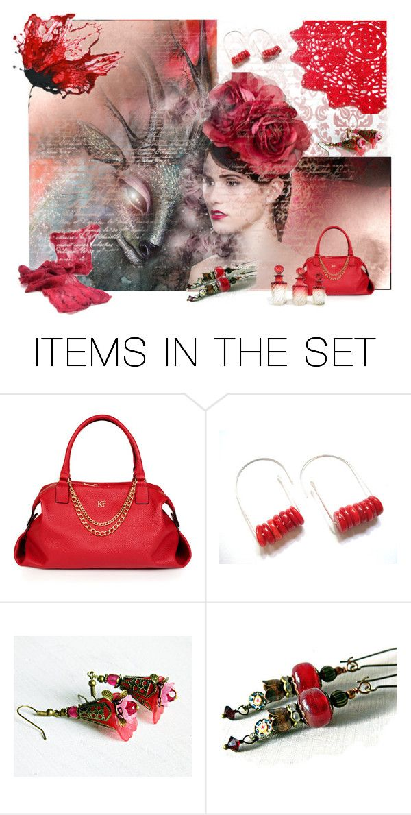 """""""Red Beauty"""" by andreadawn1 ❤ liked on Polyvore featuring art"""