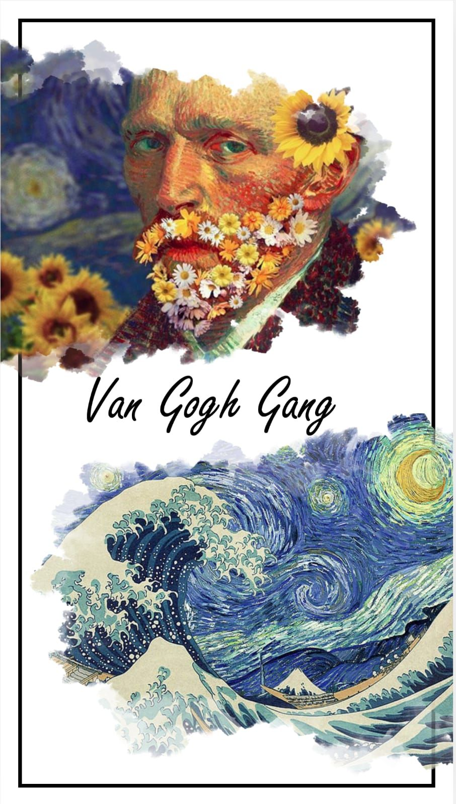 Van Gogh Gang phone wallpaper