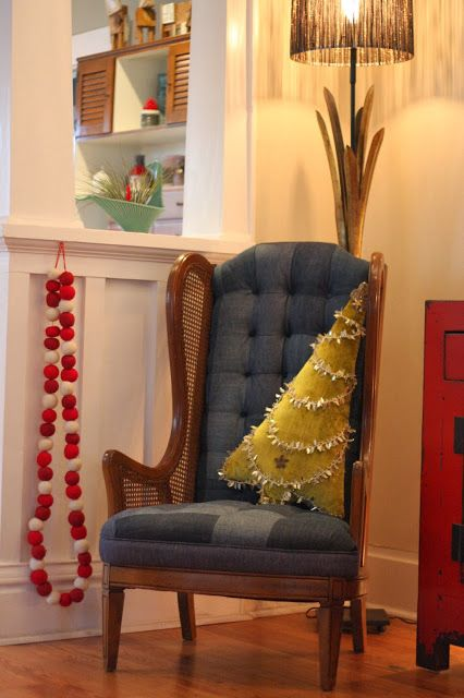 Tall tree pillow for a tall chair.