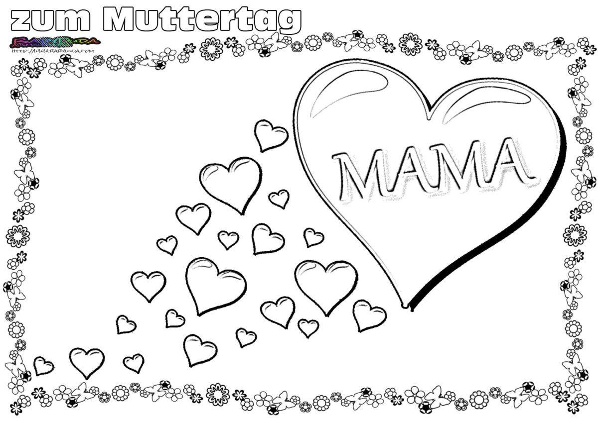 ausmalbilder zum geburtstag fur mama  kinder zeichnen und