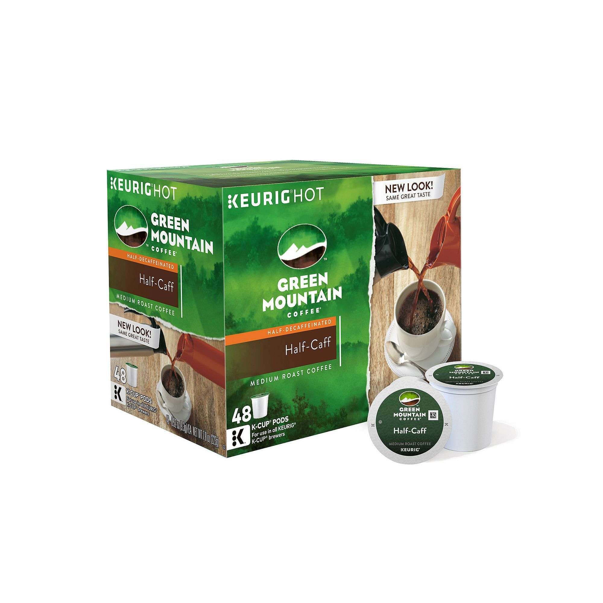 Green Mountain Coffee HalfCaff Keurig® KCup® Pods
