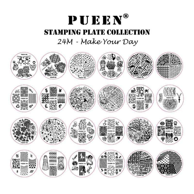 The+newest+set+of+image+plates+from+the+nail+art+experts+at+PUEEN!+ BONUS+FREE+storage+holder+is+included+in+each+order!  sc 1 st  Pinterest & PUEEN STAMPING PLATES SET - 24M MAKE YOUR DAY | Nail Stamping Plates ...