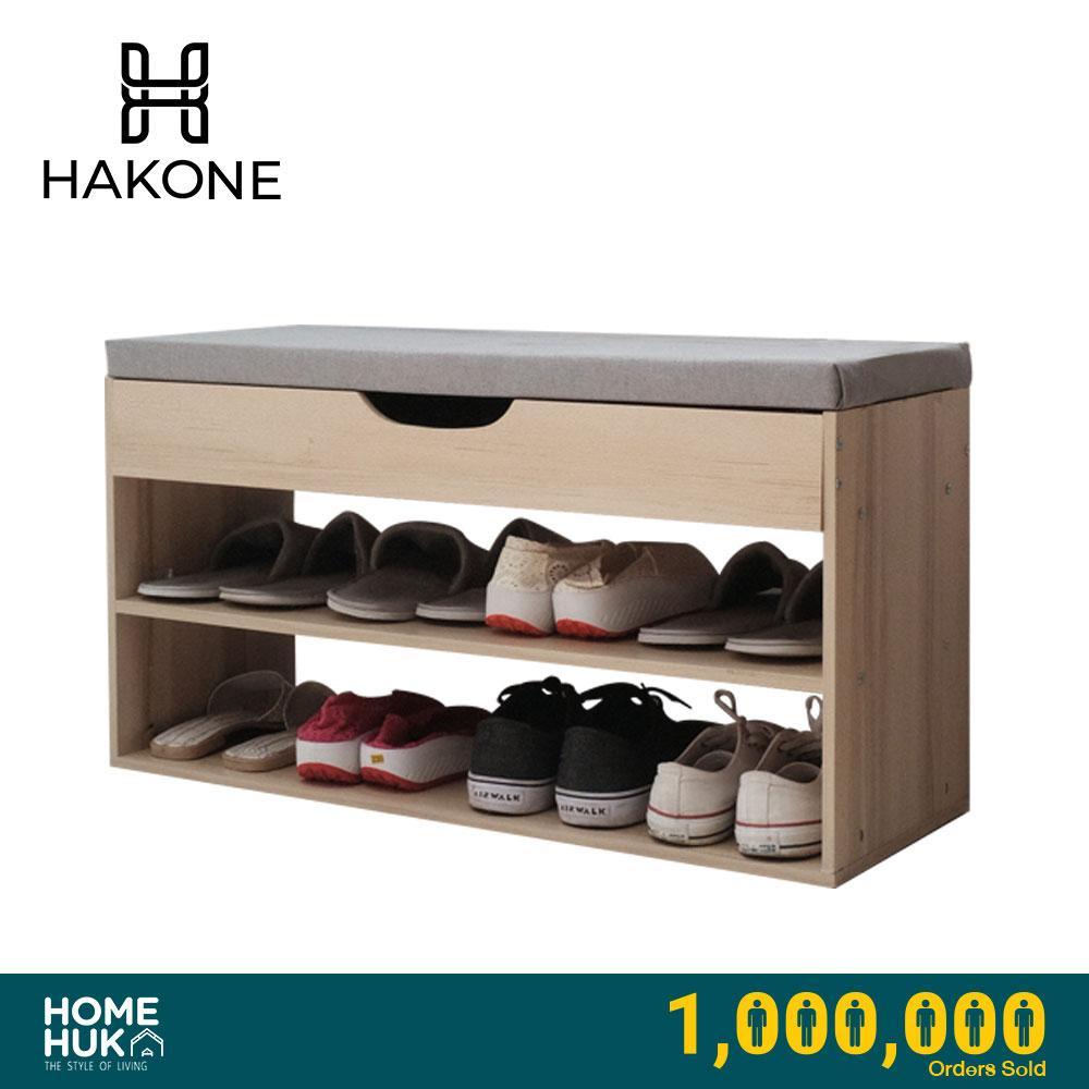 Buy Homehuk Hakone Shoe Rack 2 Tier Bench For 8 10 Shoes 80 Cm