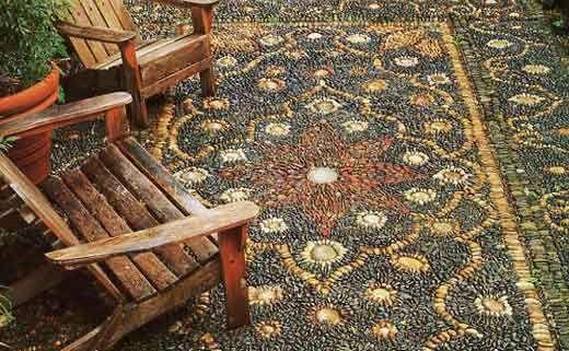 Дорожки на даче своими руками: нарядная мозаика