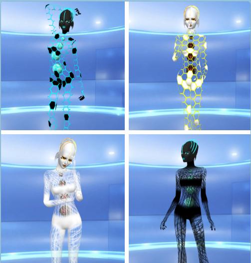 Sims 4 Avatar: Alien Grid And Web Body [#ts4_adult_fullbody] [#ts4_bacc