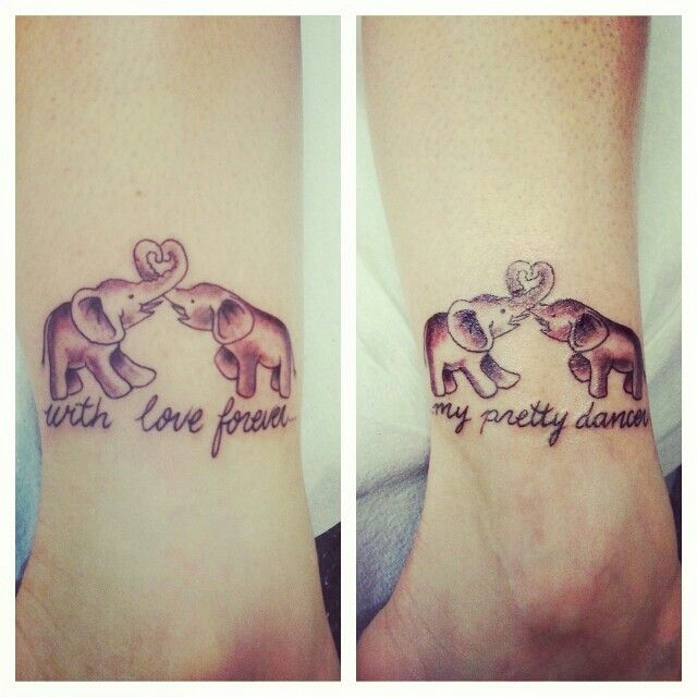 My mother daughter tattoo with love forever my pretty for Twin tattoos for mom