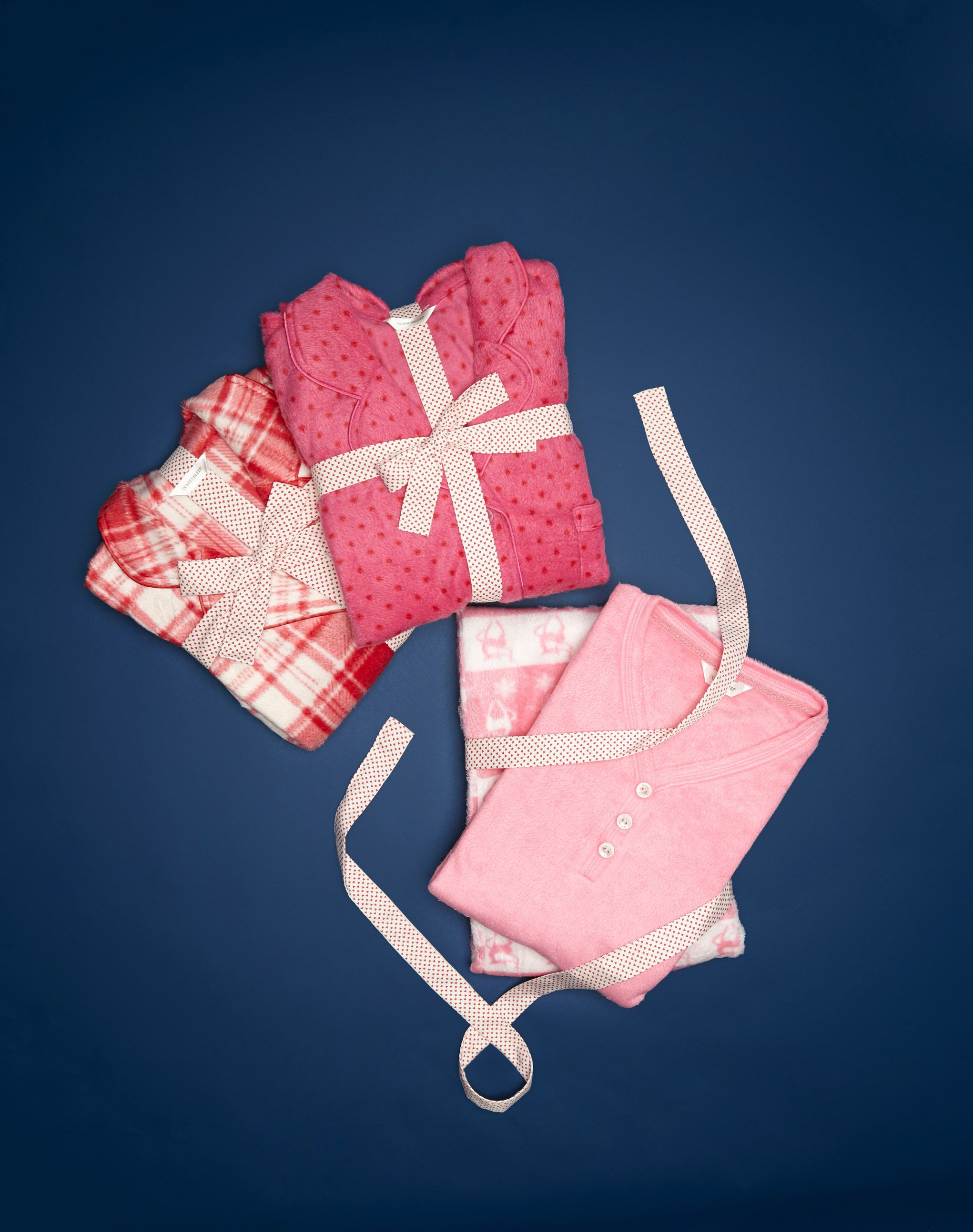 Make it special with pink and raspberrycoloured pyjamas