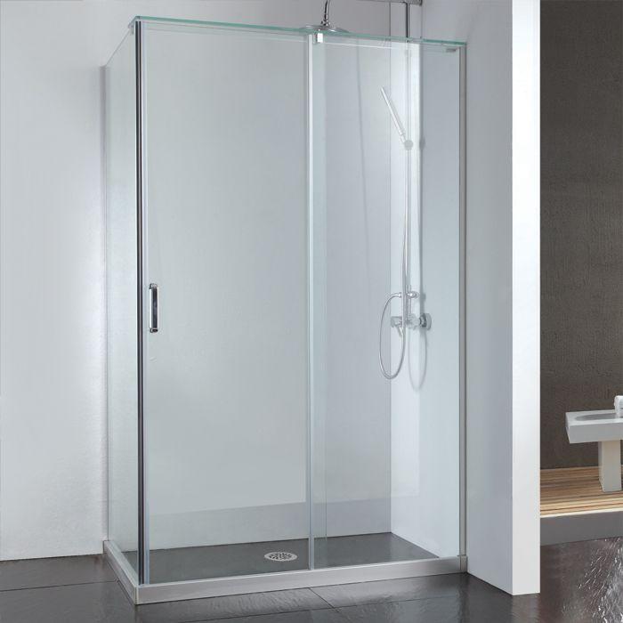 45 X 31 Alva Corner Shower Enclosure With Sliding Door Signature Hardware Duslar