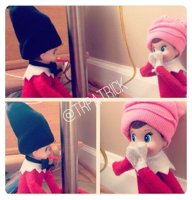 """Christmas Story"" Dash got his tongue stuck on the pole #hollyanddashp elf on the shelf | A ..."