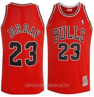 fdd8ccf6b Camiseta Autentico Chicago Bulls Jordan Rojo