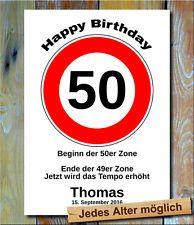 50 Jahriger Geburtstag Mit Verkehrsschild Geburtstag Geburtstag