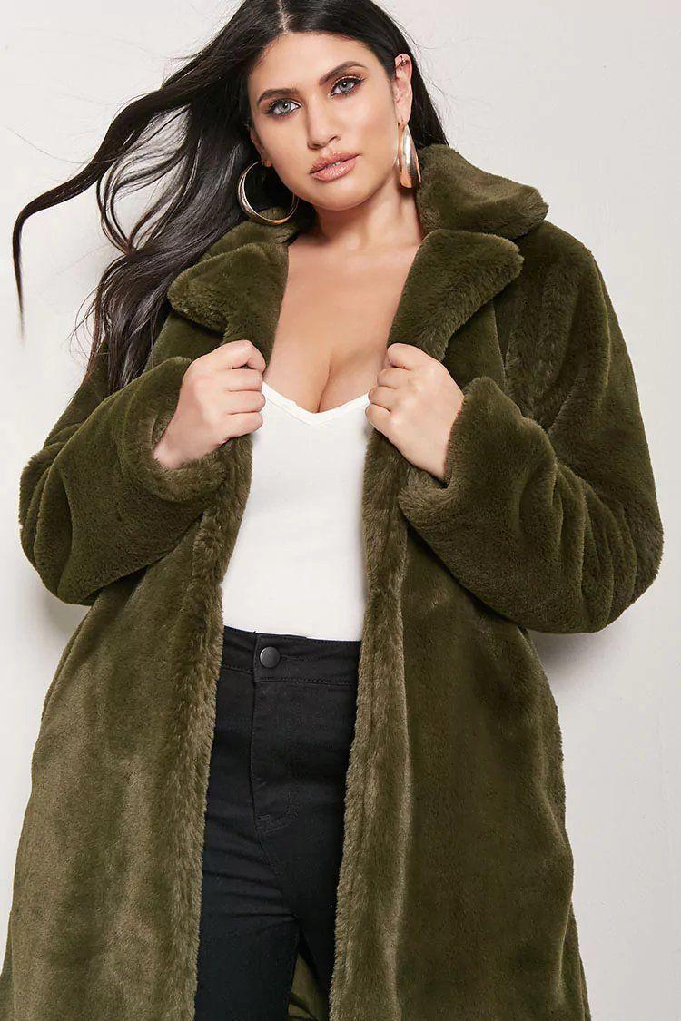 Product Name Plus Size Longline Faux Fur Jacket Category Plus Size Main Price 52 9 Plus Size Outerwear Fashion Plus Size Fashion [ 1125 x 750 Pixel ]