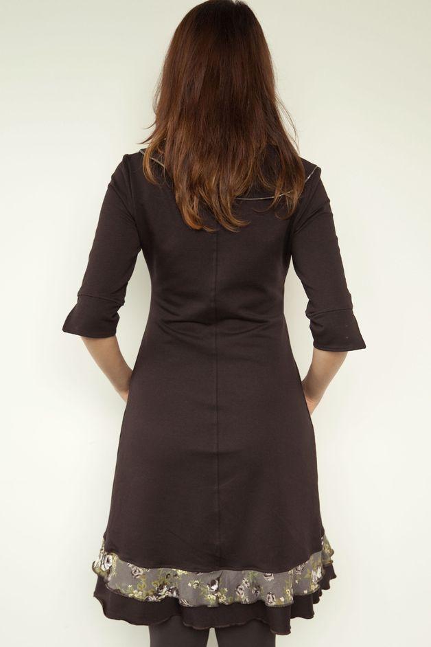 *Artikel:* Jersey Kleid *Farbe:* braun *Besonderheiten:* 2 ...