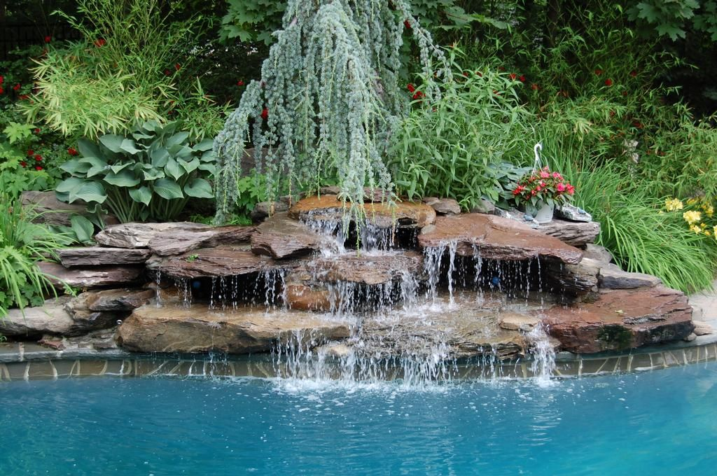 pool waterfall landscaping waterfall landscaping ideas pictures design ideas decors - Waterfall Landscape Design Ideas