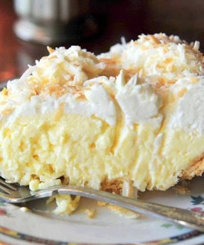Ingredients: 1 cup sweetened flaked coconut 3 cups half-and-half 2 eggs