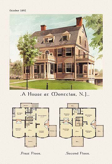House at Montclair New Jersey Graphic Art