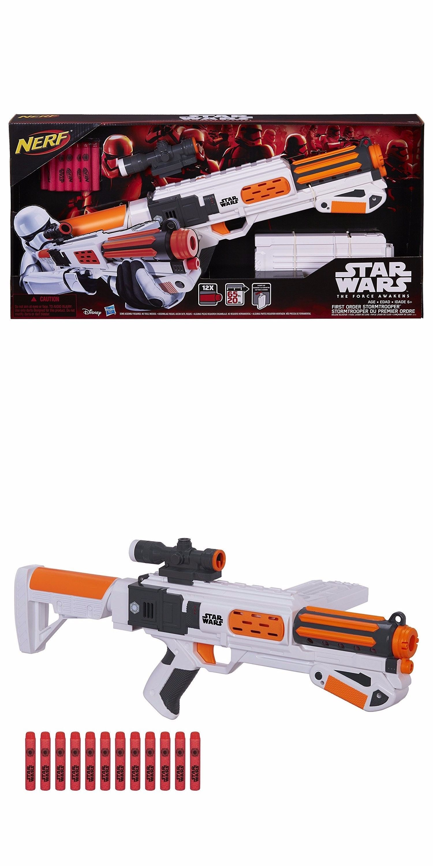 Dart Guns and Soft Darts Star Wars Nerf Episode Vii First Order Stormtrooper Deluxe