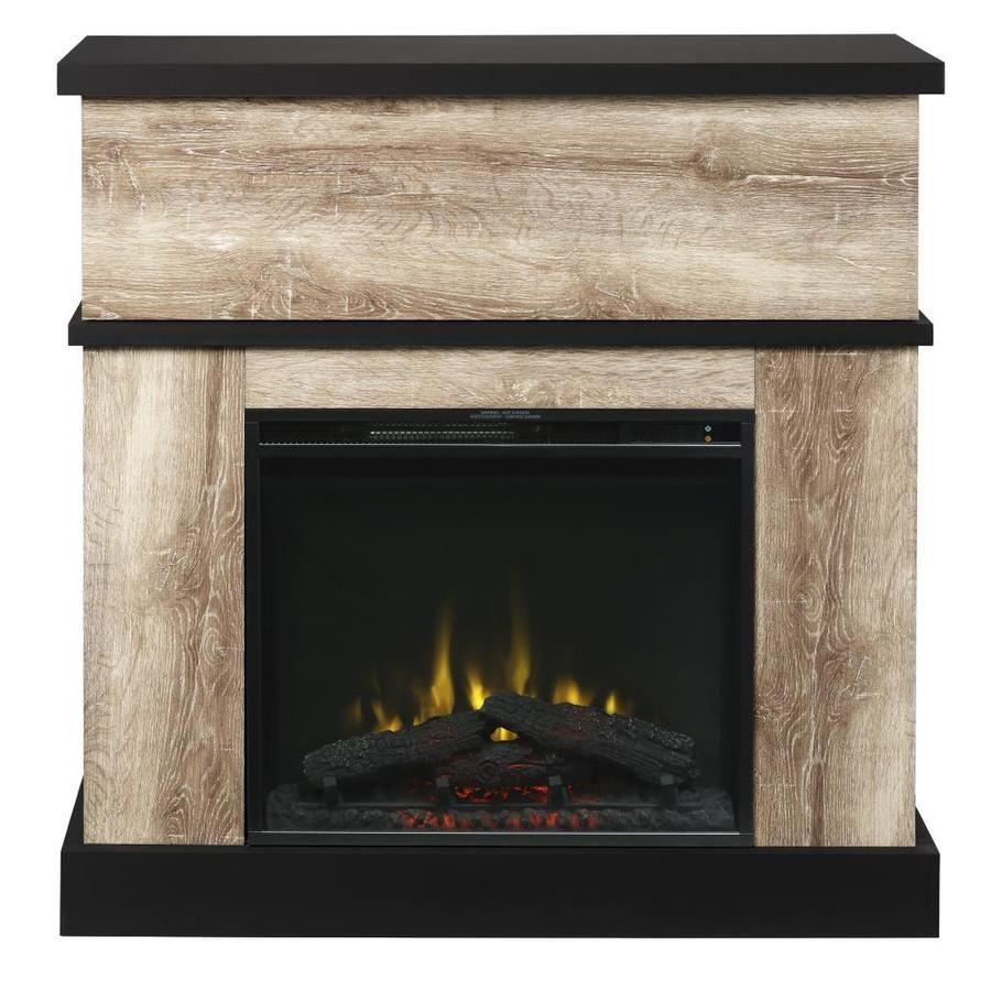 Dimplex 40 In W Distressed Oak Infrared Quartz Electric Fireplace