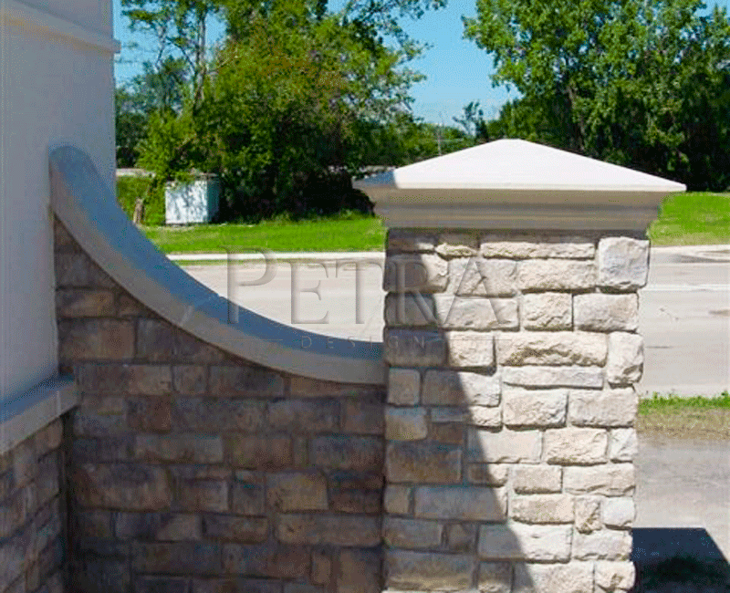 Precast Wall Coping : Wall coping and pair cap exterior architectural cast