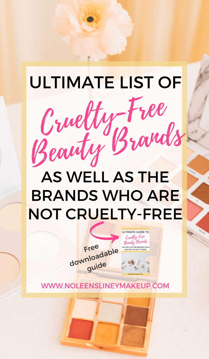 This FREE guide contains an extensive list of Cruelty Free
