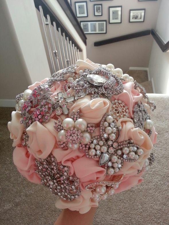 Pink Bouquet | Brooch Bouquets | Pinterest | Pink bouquet, Brooch ...