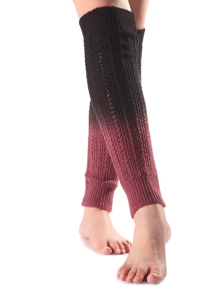 Ombre Knit Leg Warmers