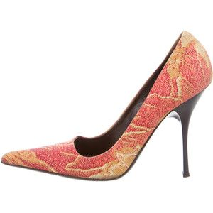 Roberto Cavalli Pointed-Toe Ankle-Strap Pumps free shipping newest latest collections sale online big discount online really cheap for cheap discount 8DLTor3t