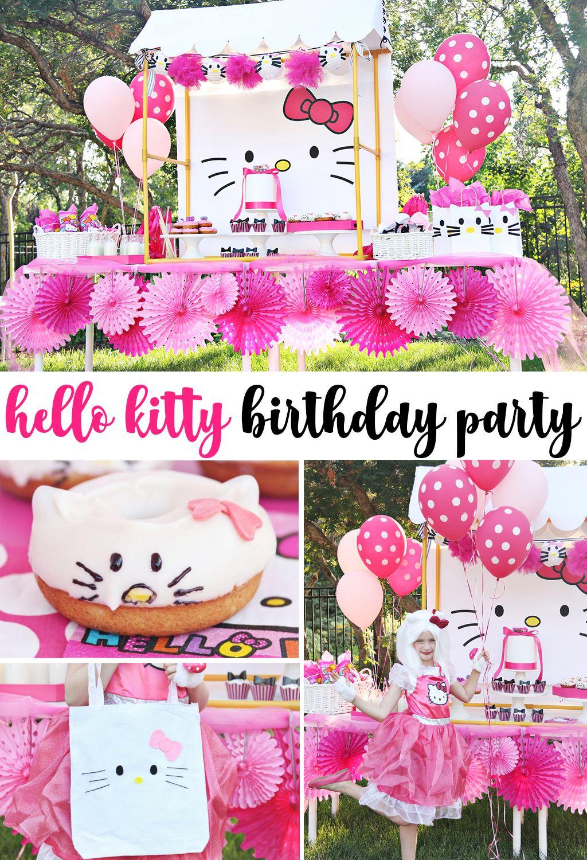 Hello Kitty Party Backdrop Favorite Diy Bloggers Pinterest Cat