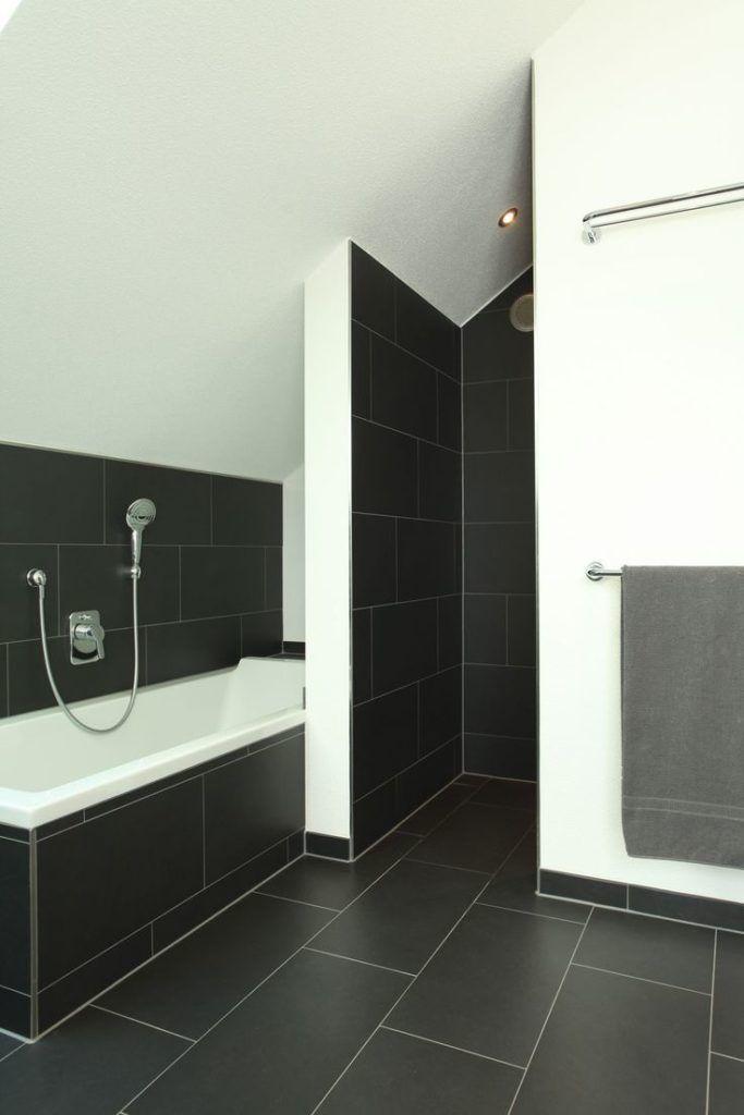 Badezimmer Fliesen Ideen Beige Anthrazit Bad Mit Mosaik