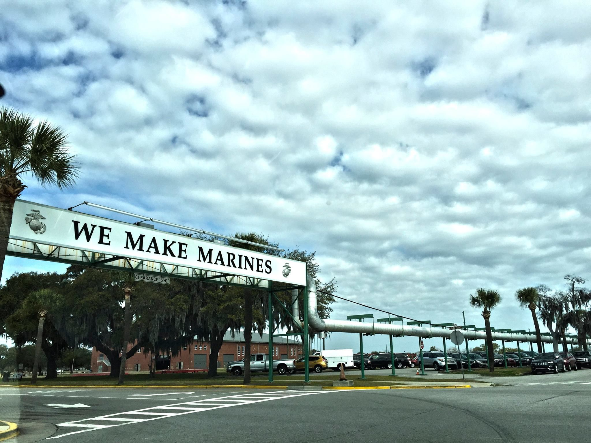 Beautiful Photo of We Make Marines sign on Parris Island - The Marine Corps Gift Shop