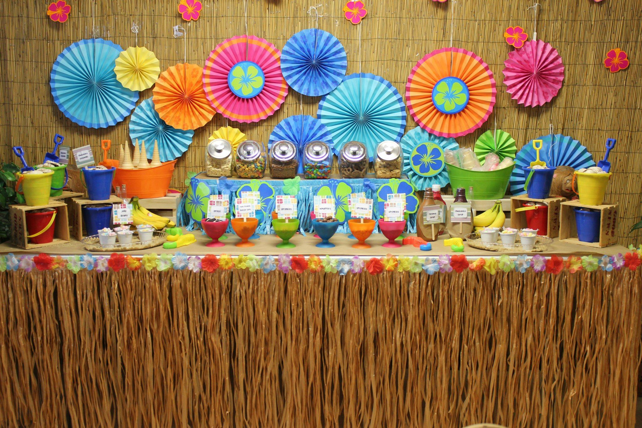 luau birthday party ideas share your favorite ice cream sundae