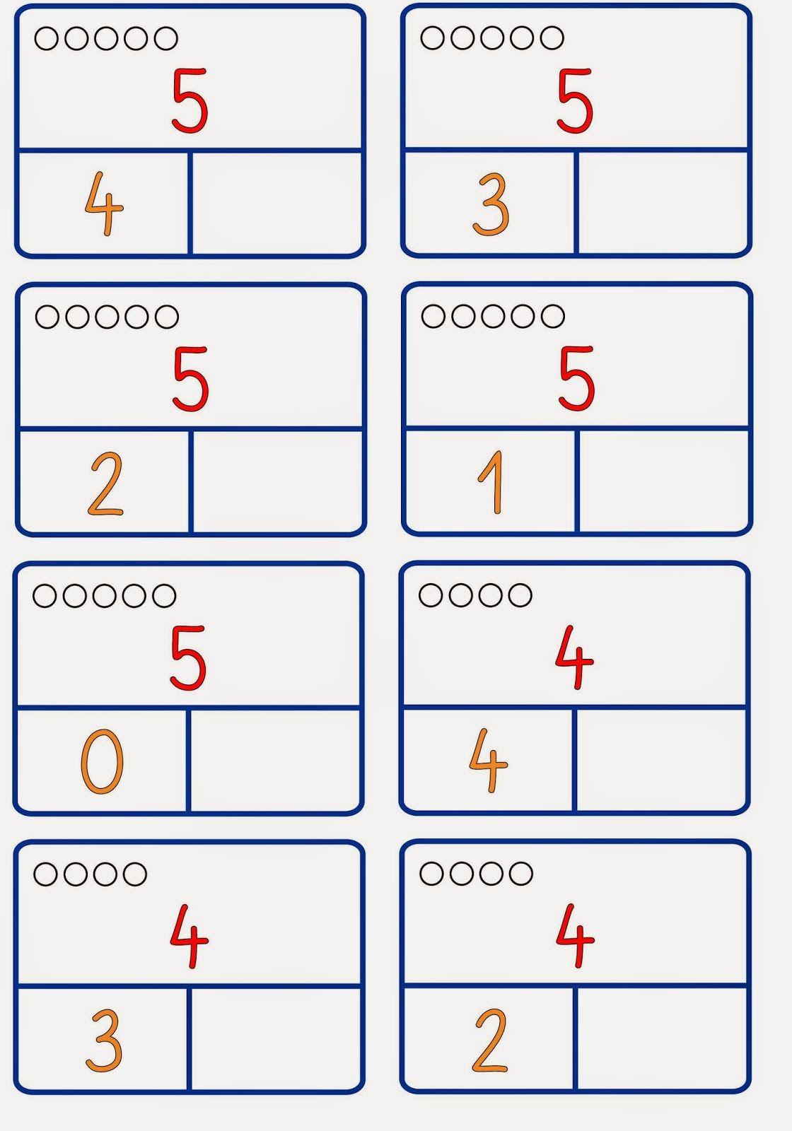 Zahlzerlegung nur bis 6 (2) | Mathe, Obwohl und Zahlen
