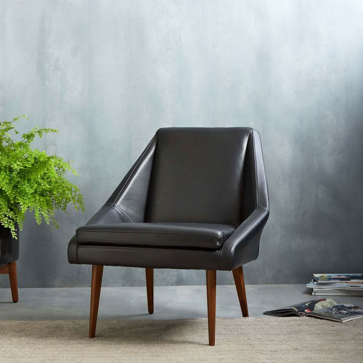 Parker Leather Slipper Chair
