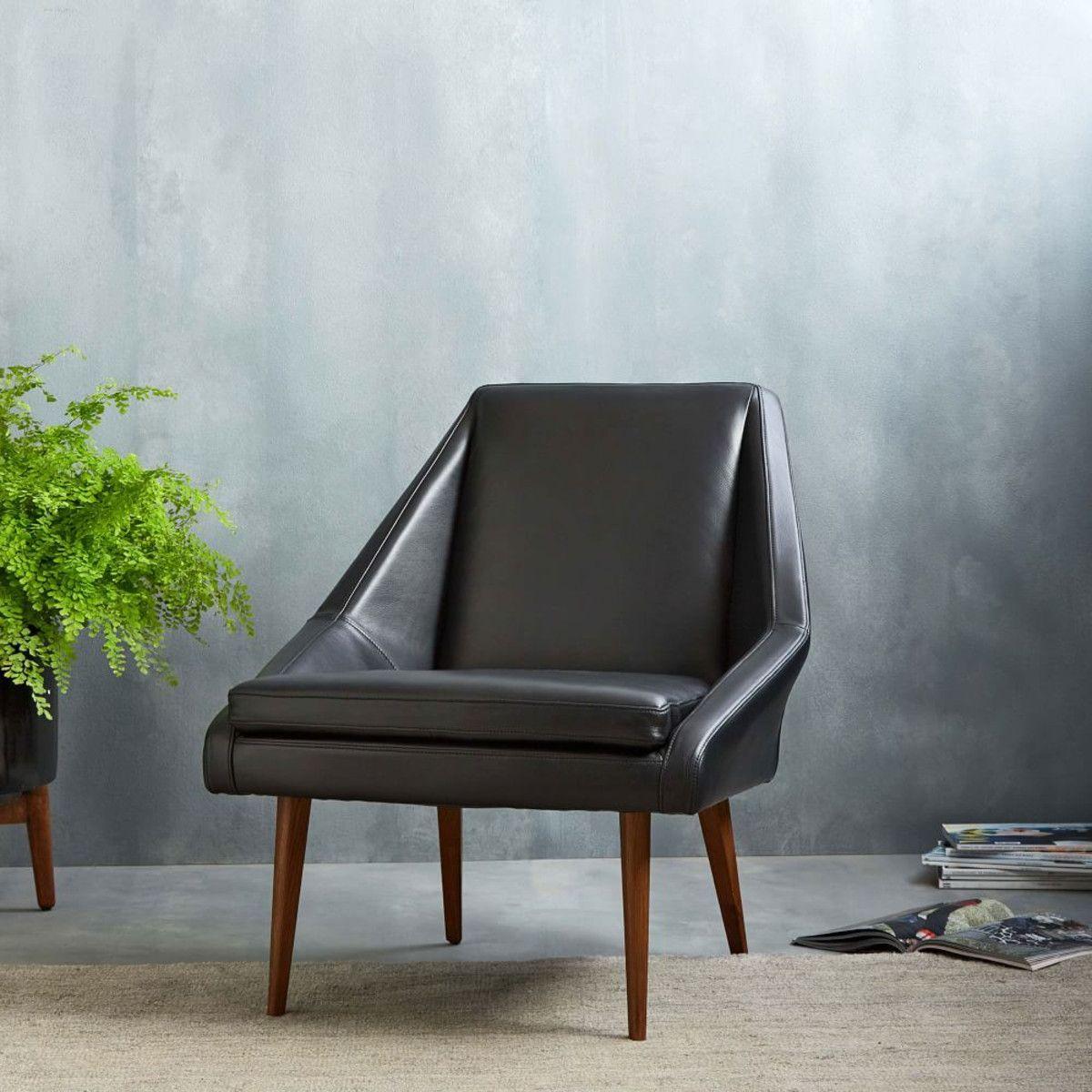 Superb Parker Leather Slipper Chair | West Elm UK. Modern Living Room ...