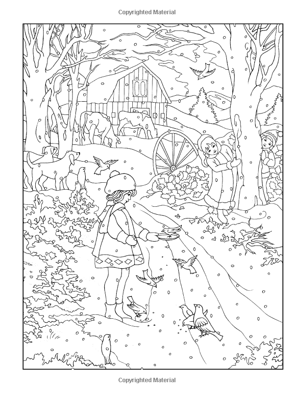 Creative Haven Winter Scenes Coloring Book (Creative Haven Coloring ...