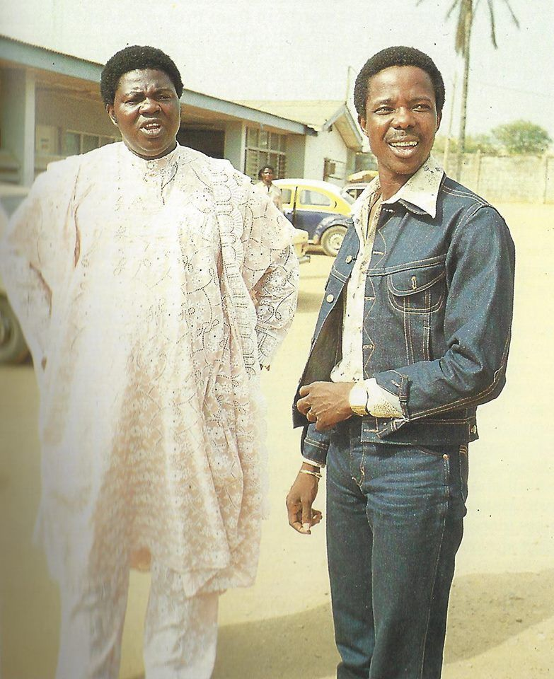 King Sunny Ade and Chief Commander Ebenezer Obey in 1982