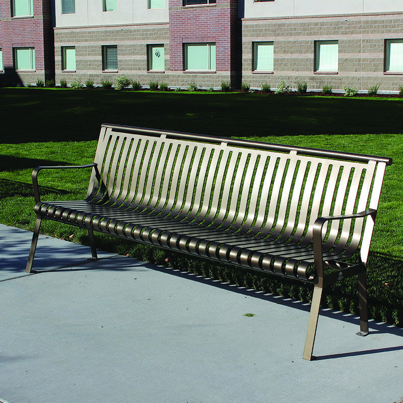 outdoor bench in bronze from premier site furniture this bench is rh pinterest com