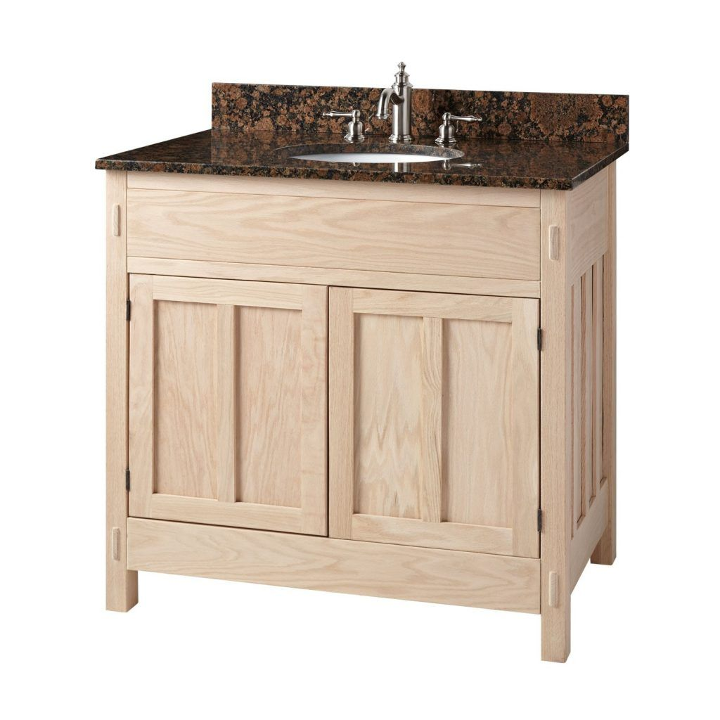 30 Bathroom Vanity 30 Unfinished Mission Hardwood Vanity For Undermount Sink Bathroom