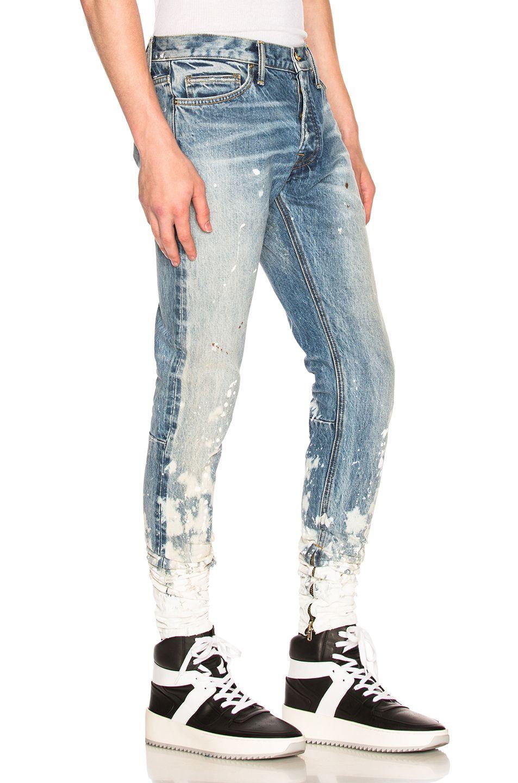 Image 2 Of Fear Of God Selvedge Denim Painters Jean In Indigo Romper Denim Jacket Women Trendy Denim Jacket Mens Fashion Jeans