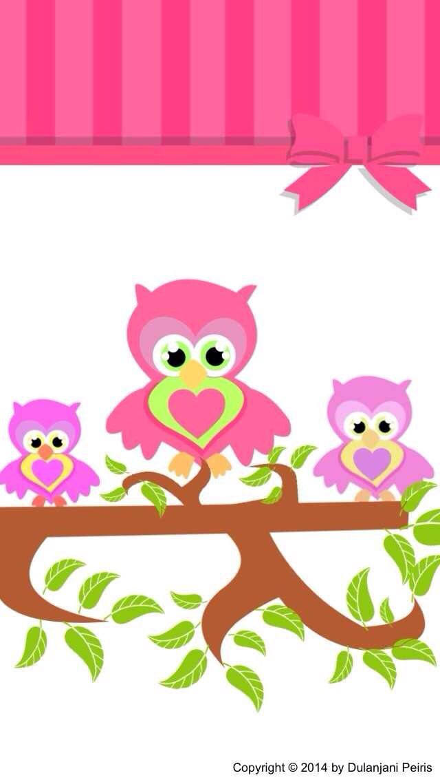 An Owl Family Find This Pin And More On Cute Clipart By Creativetoni IPhone 5 Wallpaper