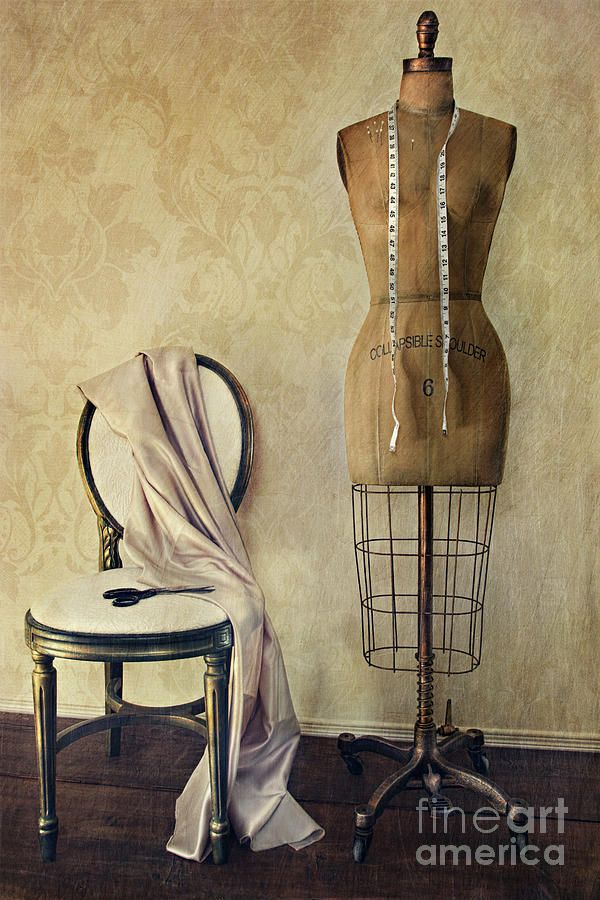Antique dress form and chair with vintage feeling by Sandra Cunningham