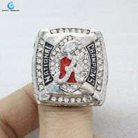 2011 Alabama Crimson Tide National Championship Ring Rhinestone crystal silver pleated ring for men