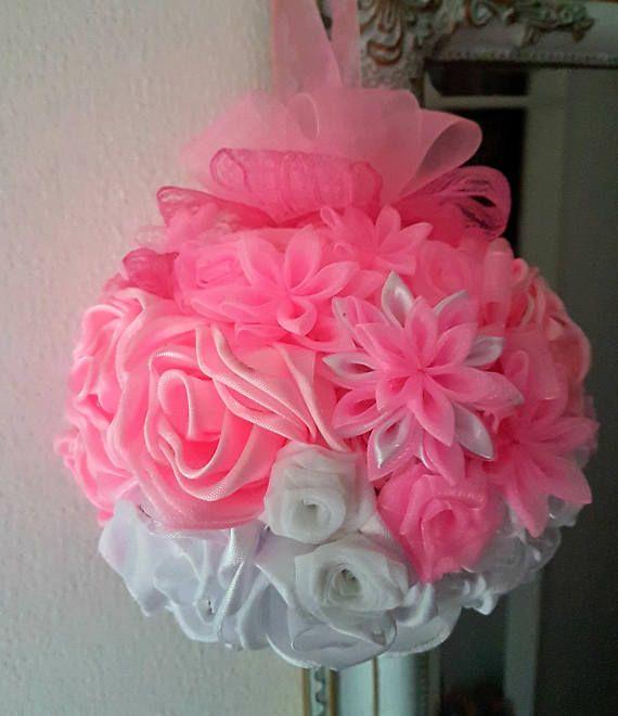 Hochzeitsstrauss Blumenstrauss Rosa Weiss Ball Kugel Hochzeit Wedding