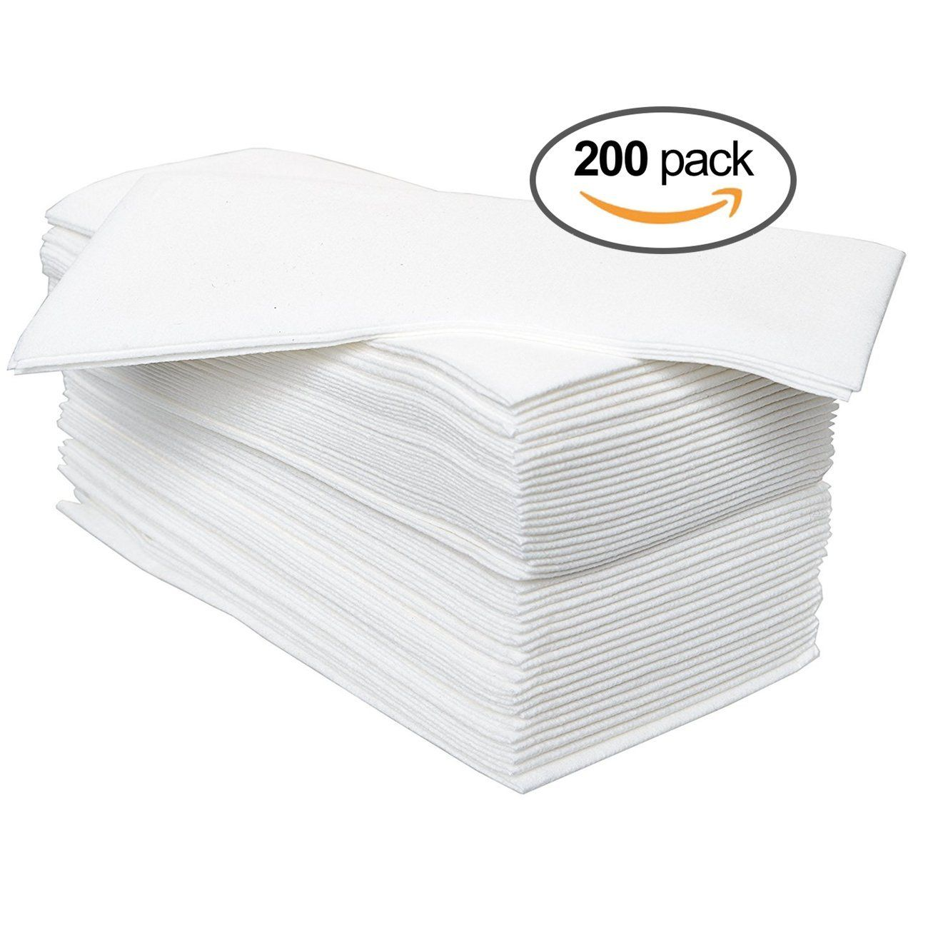 Airlaid Luxury Disposable Hand Towel 8-Fold White Pack of 50