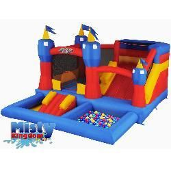 overstock misty kingdom inflatable playset is the coolest bounce rh pinterest com